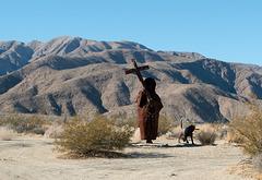 Borrego Springs, CA Spanish padre sculpture  (# 0644 )
