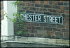 Chester Street street sign