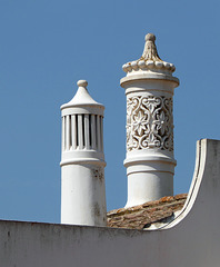 Algarve chimneys, Castro Marim, Algarve.