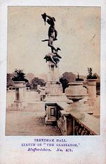The Terrace, Trentham Hall, Staffordshire from a c1860 carte de visite