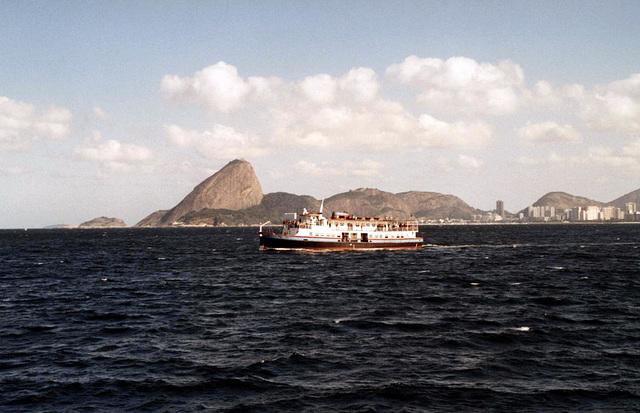 Rio de Janeiro des de la Badía de Guanabara.
