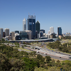 Panorama Skyline Perth Australia