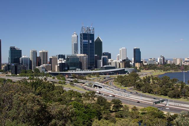 Panorama Skyline Perth Australia