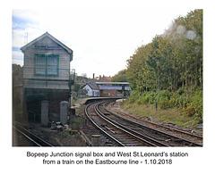 Bopeep Junction signal box & West St Leonard's station - 1.10. 2018