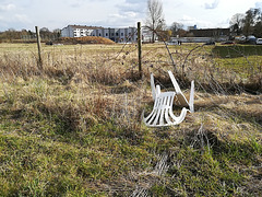 abandoned fence and abandoned chair - HFF