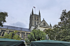 Southwark Cathedral – Viewed from Borough Market, Southwark, London, England