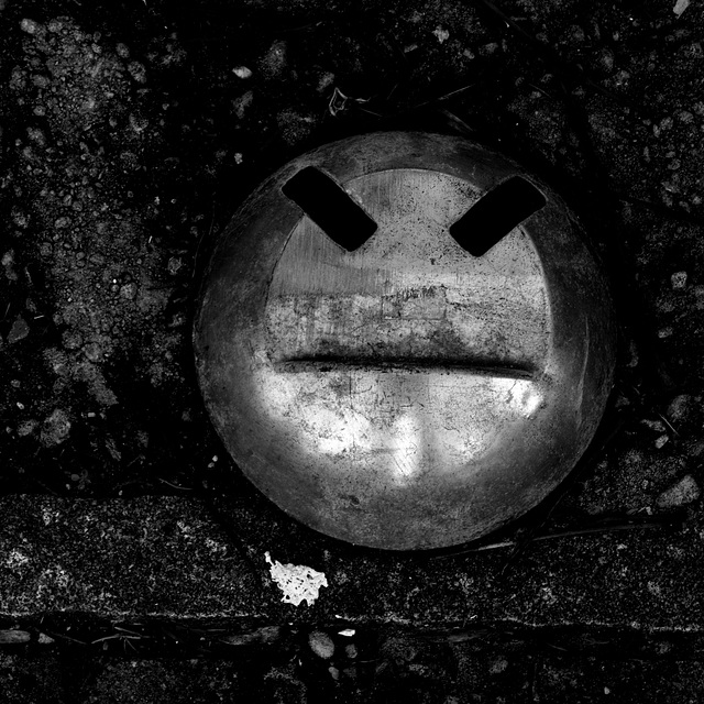 a kinda' smiling