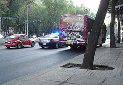 Bus, Police & VW.