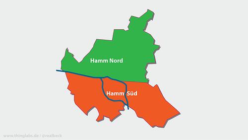 Karte mit Vorschlag zur Abschaffung der Einheitsgemeinde --- hamburg-1