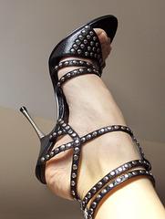 Elzbennet alias Sara in her beloved bomber heels