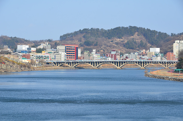 Nam River and Jinju Bridge