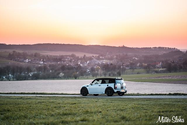 Mini R55 Clubman JCW enjoying the sunset!