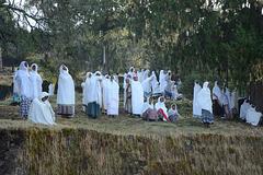 Ethiopia, Lalibela, The Sunday Mass at Bete Medhane Alem Church