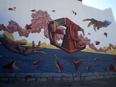 Anti-nuclear mural.