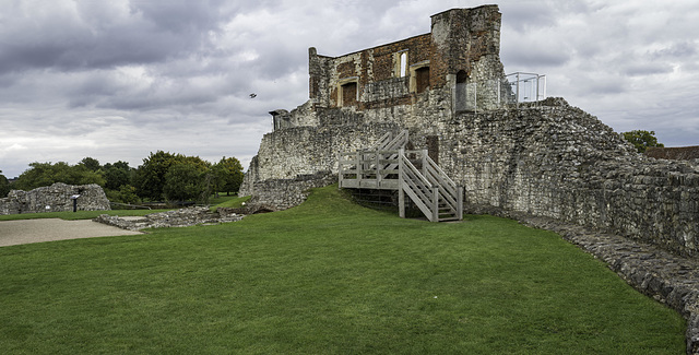Panoramic view of walls of the Castle Keep