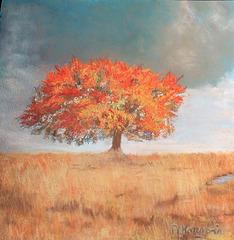 couleurs d'automne, un de mes pastels