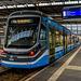 Škoda-Straßenbahn im Chemnitzer Hauptbahnhof