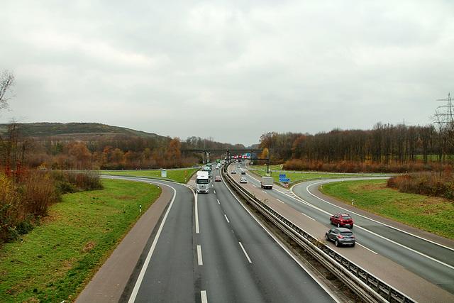 A43, Autobahnauffahrt Bochum-Laer / 20.11.2018