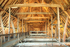 Salisbury cathedral - the medieval roof structure. Most of the timbers are original and come from local oak trees felled in about 1220.