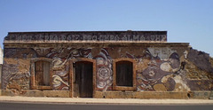Intervention on wall of former canned fish factory.