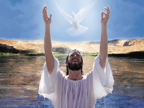 Kiam Jesuo estis babtita dum Li preĝadis, la ĉielo malfermiĝis
