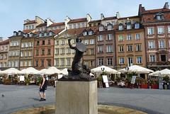 Varsovia, plaza de la sirenita