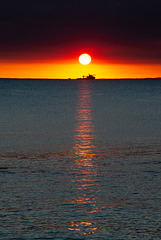 Sunset colours.