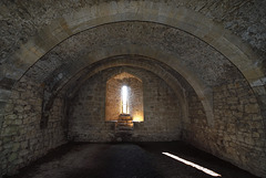 Basement of the West Tower - Helmsley Castle