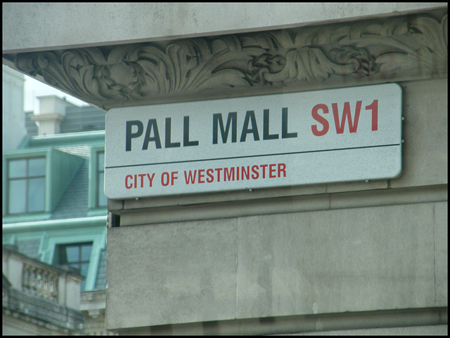 Pall Mall street sign