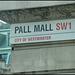 Pall Mall street sign