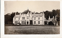 Faskally House, Pitlochry, Perthshire, Scotland from a c1870 carte de visite by Irvine of Aberfeldy