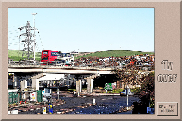 Fly over - Newhaven - 11.1.2014