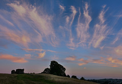 The skies above Kendal Castle