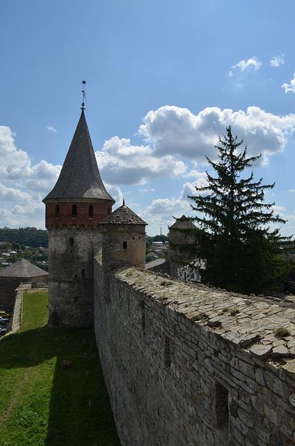 Каменец-Подольская Крепость, Северная стена с Лянцкоронской Башней / Kamyanets-Podolsky Fortress, Northern Wall with Liantskoronska Tower