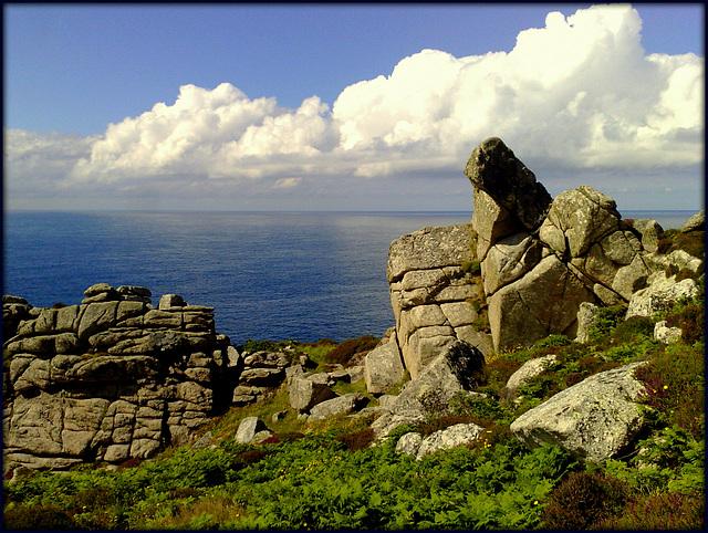 Bosigran Head, granite.