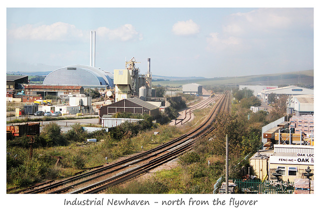 North from the flyover - Newhaven - 12.9.2014