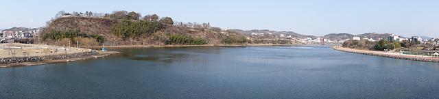 Nam River passing through Jinju