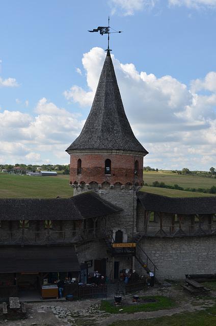 Каменец-Подольская Крепость, Тенчинская Башня с Лянцкоронской Башни / Kamyanets-Podolsky Fortress, The Tenchin Tower as viewed from Liantskoronska Tower