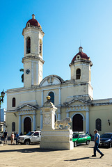 Cathedral of Cienfuegos and Medici Lions, Cuba