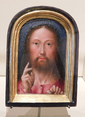 Christ Blessing by Gerard David in the Cloisters, October 2017