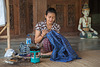 Working on Bali batik