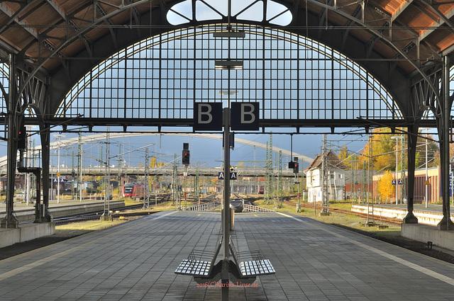 warten bis mein Zug abfährt