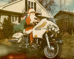 Santa Claus and His Harley