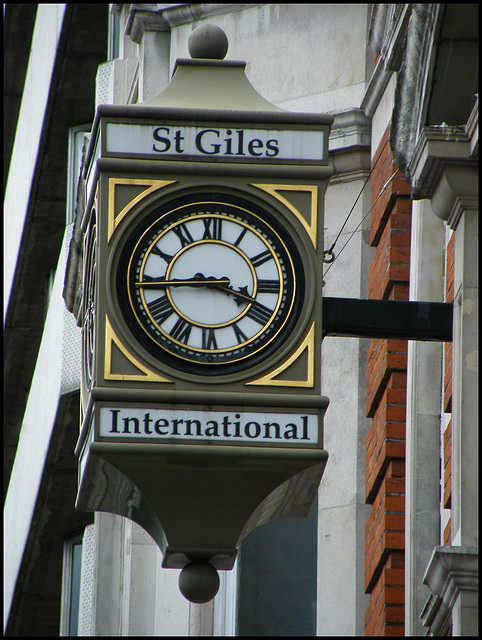 St Giles International clock