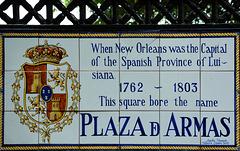 Inschrift am Park (Jackson Square)