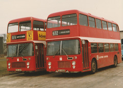 Eastern Counties OPW 182P and TEX 405R  - Mar 1983