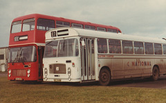 Eastern Counties VAH 281X and GCL 348N - Feb 1982