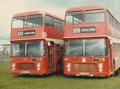 Eastern Counties OPW 182P and TEX 405R  - Mar 1981