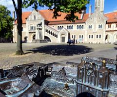 Der Burgplatz in Braunschweig in zwei Ansichten