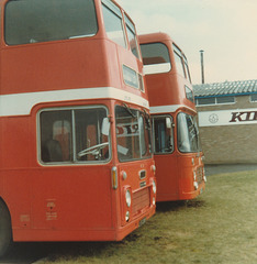 Eastern Counties LFS 286F and TEX 405R  - Mar 1981